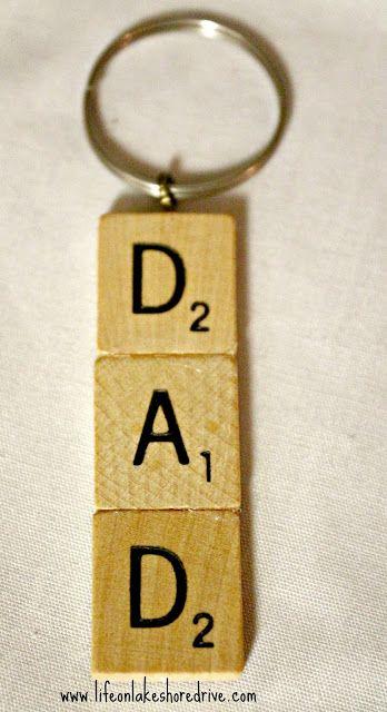 Scrabble Tile Key Chain Tutorial Life on Lakeshore Drive