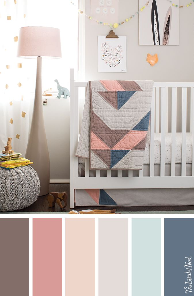 Colour Swatch Grey Walls Pink Curtains Gold Accents Baby Nursery Pinterest And