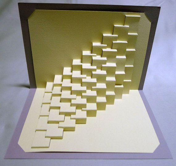 Torsión 1 / recto: escultura de papel pop-up de kirigami
