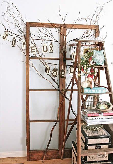 Vintage Ladder Decorations #vintage #ladder
