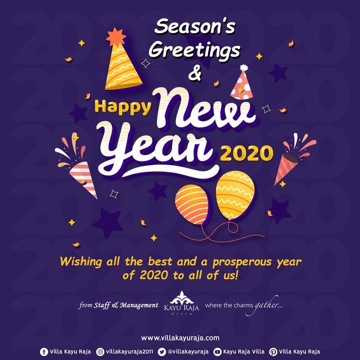 Season's Greetings & Happy New Year 2020! Wishing you all