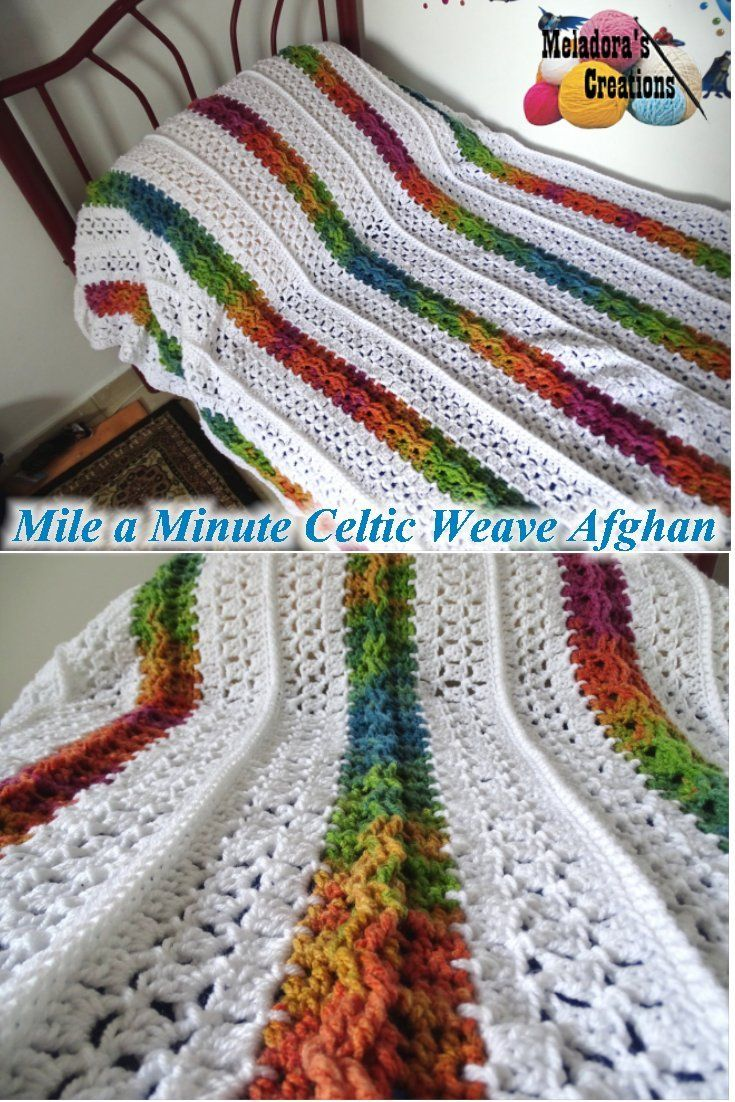 Mile a Minute Celtic Weave Afghan – Free Crochet Pattern and Video Tutorials for both Right and Left Handed - by Meladora's Creations