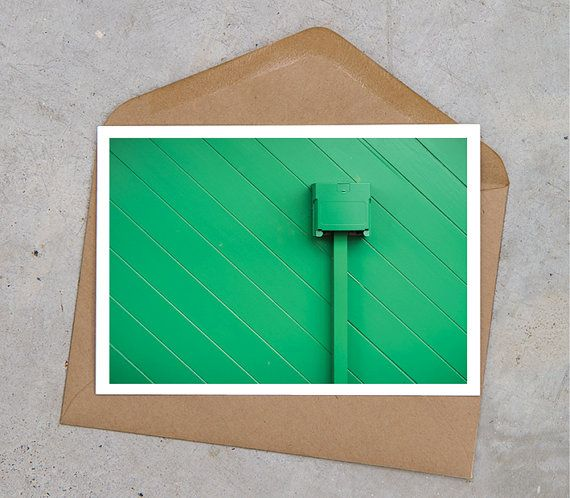 green urban industrial postcard by MyKindOfLandscape on Etsy