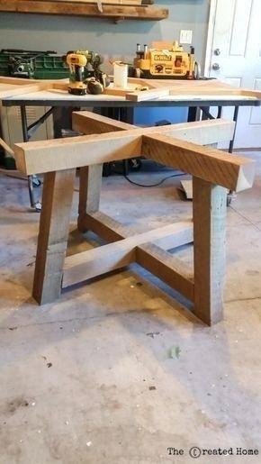 Wunderschöne Tischplatte aus wiederverwendetem Holz Bilder, Ideen für Tischfuß aus
