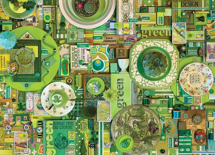 Puzzle COBBLE HILL 51864 Barvy duhy: Zelená 1000 dílků