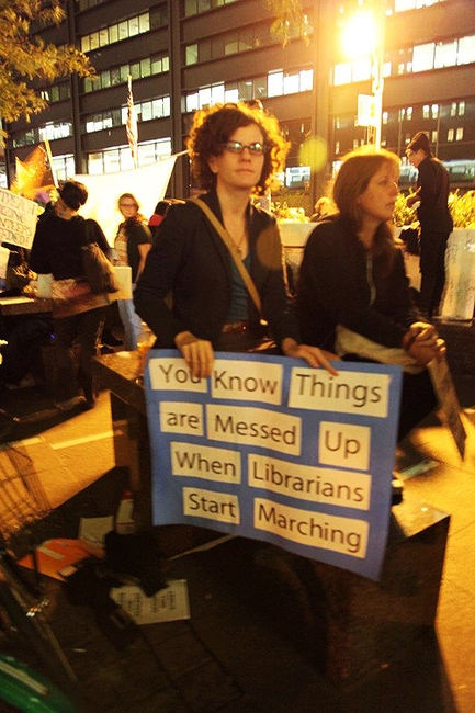 You know things are messed up when librarians are marching.
