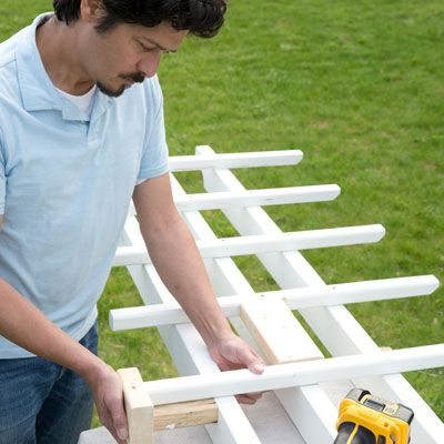 Photo: Kolin Smith   thisoldhouse.com   from How to Build a Garage Pergola
