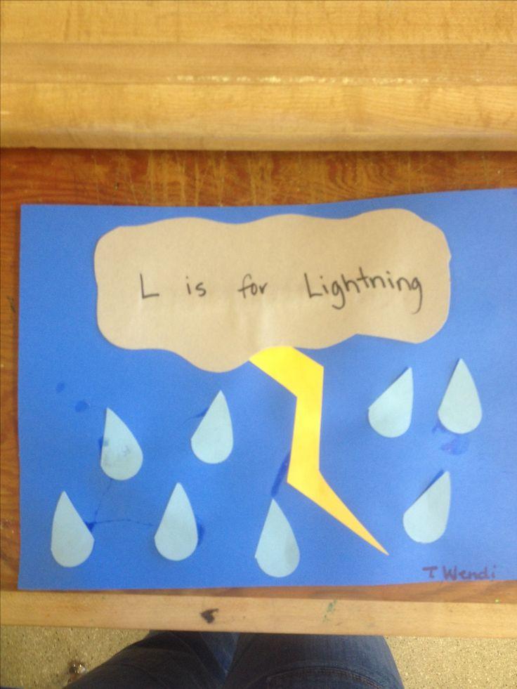 """L"" is for lightning preschool craft"