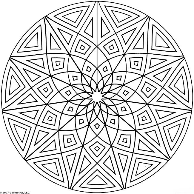 93 best Design images on Pinterest Mandala coloring pages