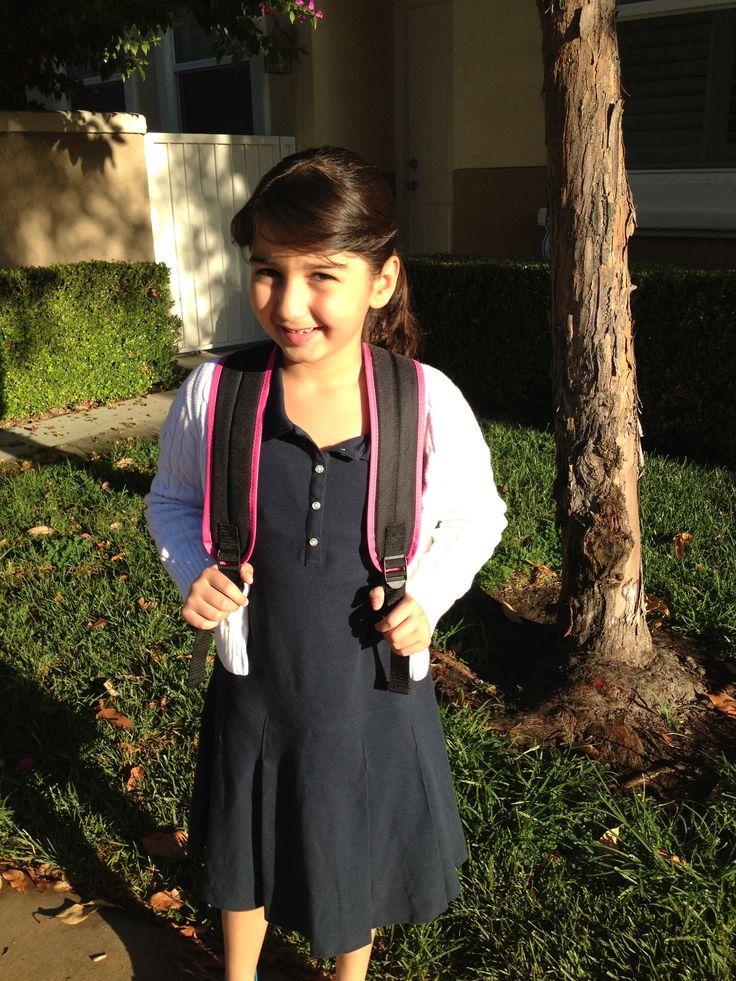 Annabella's first day in school