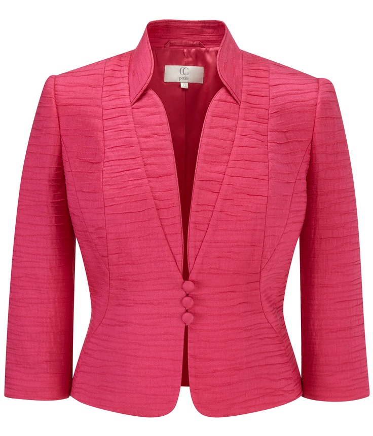 CC - Petite Bright Pink Seam Detail Jacket