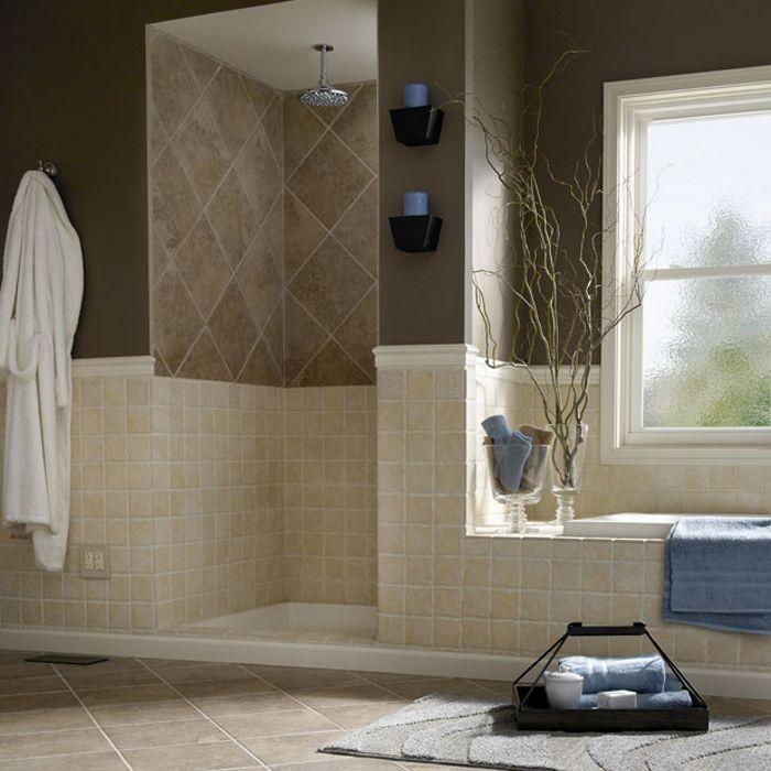 221 Best For The Home Images On Pinterest  Backsplash Ideas Bath Alluring Lowes Bathroom Tile Designs Inspiration