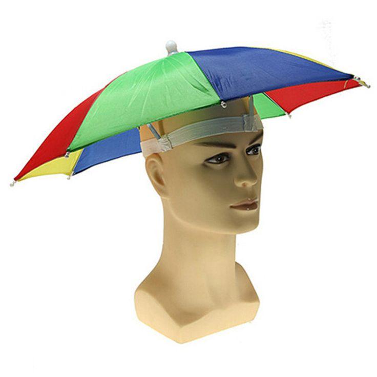 Новая Мода Mutifunction Цвет Вс Hat Cap Складной Зонтик, Зонтик Гольф Путешествия Отдых На Природе Рыбалка Охота Handfree Случайный Цвет купить на AliExpress