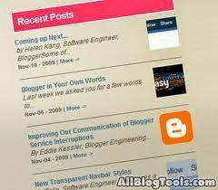 Cara Memasang Recent Post atau Posting terbaru di Blogspot adalah tutorial blogspot yang layak untuk anda coba karena menurut beberapa webmaster dengan memasang recent post dapat membuat blog lebih ramah di mesin pencari dan ini adalah salah satu langkah cara optimasi seo blog di search engine