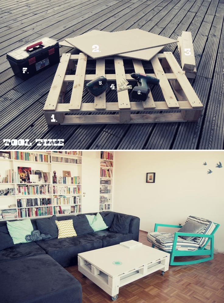 Tutorial How to Make a Modern Coffee Table with a Wood