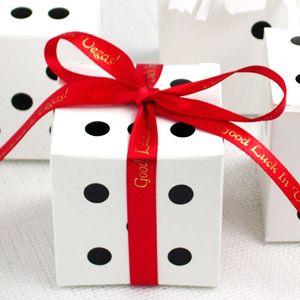 Dice Wedding Favor Boxes - 10 pcs