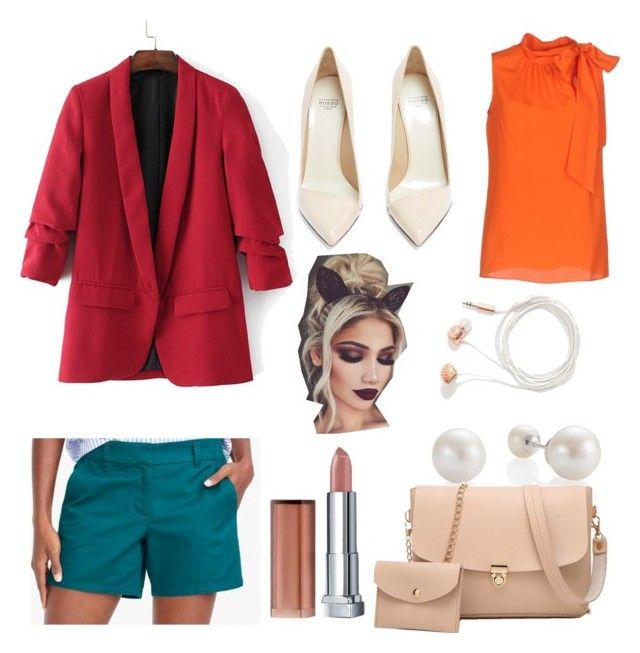 split complementary color scheme dress by sweetdollanjali on Polyvore featuring polyvore fashion style Boutique Moschino Francesco Russo Skinnydip Maybelline clothing
