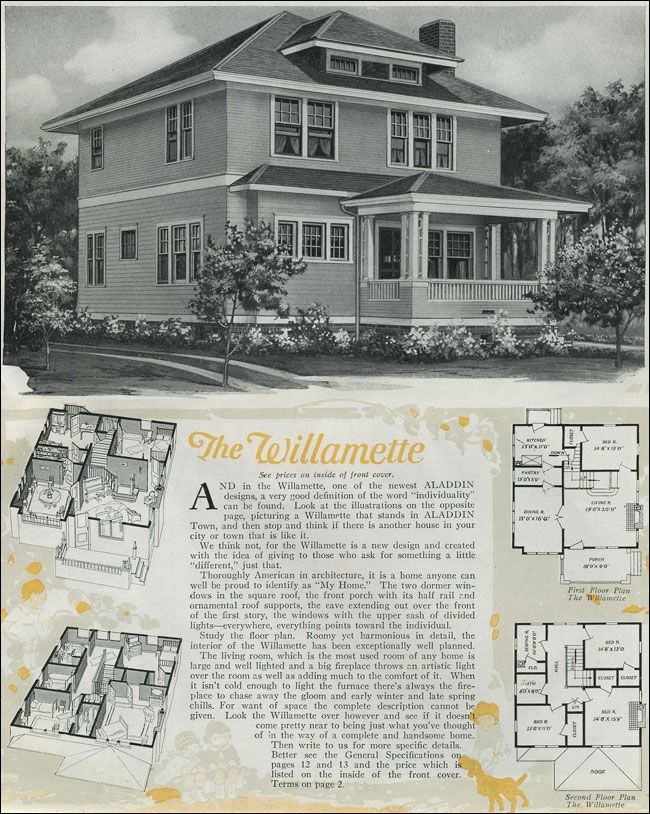 images about Sears House Plans  on Pinterest   Modern Homes     Houses   Classic Foursquare   The Willamette   Aladdin Homes   Kit House