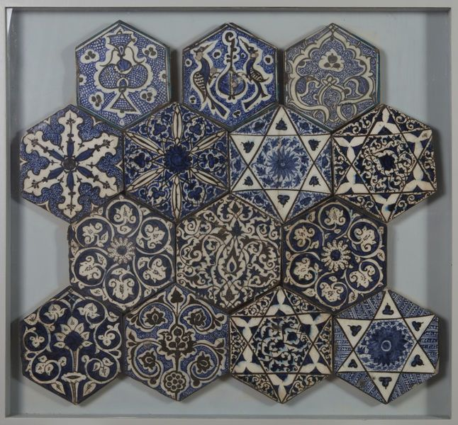Tile | Made in Damascus, Syria, ca. 1420-1450 | Materials: fritware with polychrome underglaze painting | VA Museum, London