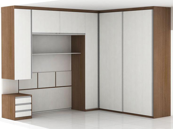 Closet Misto: Com porta de correr e porta de abrir Mais