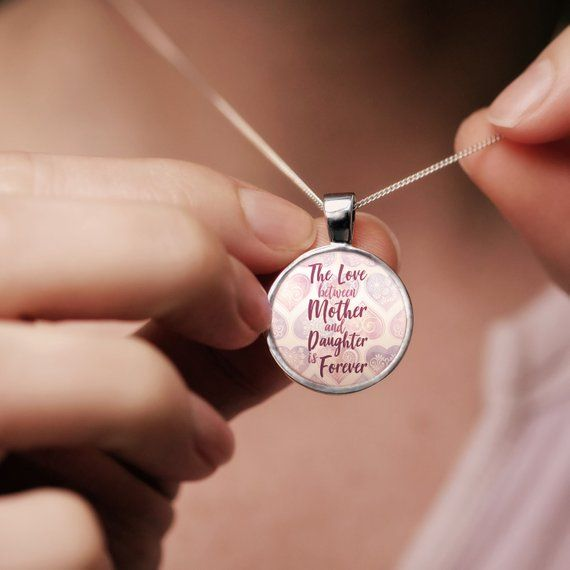 Mother Daughter Necklace Valentines Day Gift For Daughter Mothers Day Gift For Mom Gift For Mo Valentine Day Gifts Mother Daughter Necklace Valentines Necklace