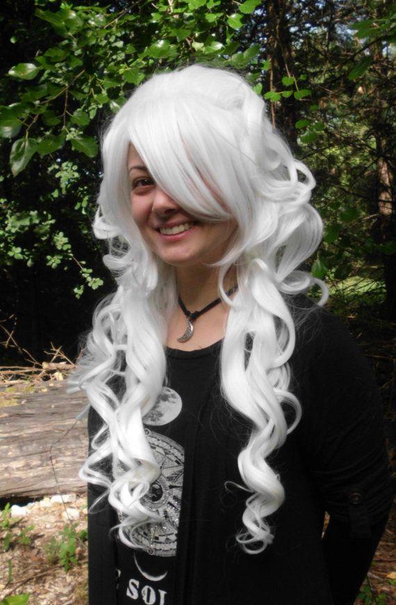 White Wig Bump Wig Long Curly Stunning Big wig cosplay