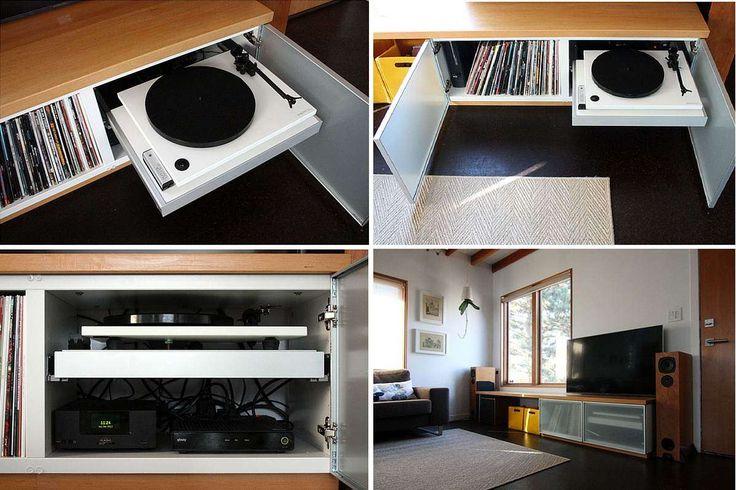 les 25 meilleures id es de la cat gorie rangement vinyle. Black Bedroom Furniture Sets. Home Design Ideas