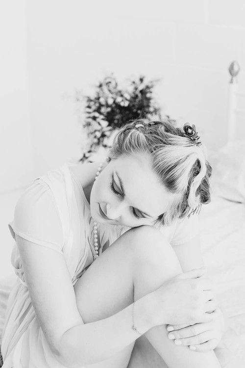 Love Yourself, Dream, Black and White Boudoir. Fine Art Women's Portraiture Photography By Novella.