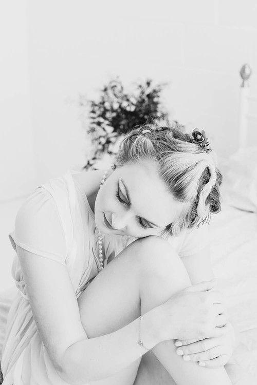 Love Yourself, Dream, Black and White Boudoir. Fine Art Women's Portraiture Photography By Novella.