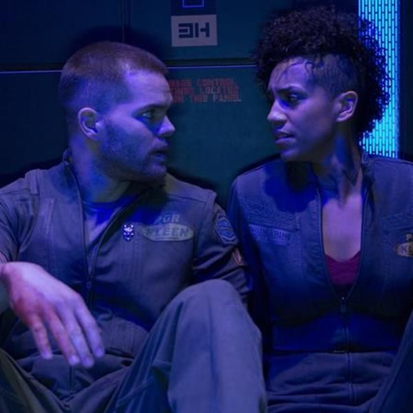 The Expanse on Syfy channel. Part Battlestar Galactica, part Total Recall (the original), best space opera in years