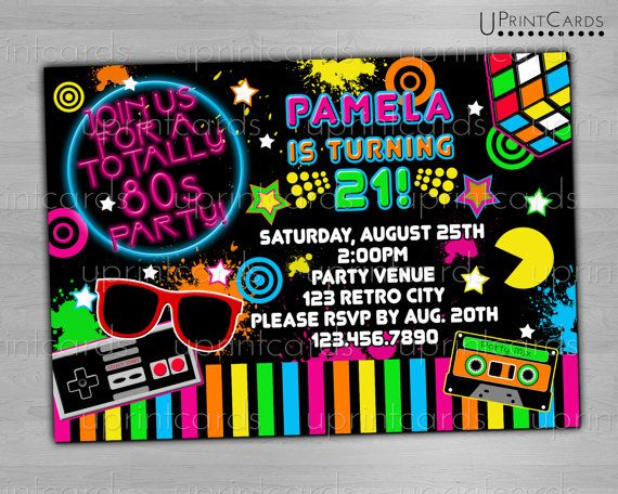1000+ images about 80's Birthday Party on Pinterest | 80s ...