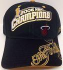 For Sale - MIAMI HEAT 2006 NBA FINALS CHAMPIONS REEBOK LOCKER ROOM HAT CAP CHAMPS BLACK