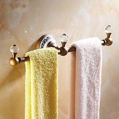 robe krog, antik messing vægmonteret, badeværelse tilbehør – DKK kr. 332