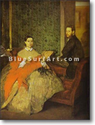 Portrait of Edmondo and Therese Morbilli - £124.99 : Canvas Art, Oil Painting Reproduction, Art Commission, Pop Art, Canvas Painting