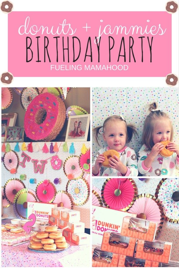 donuts + jammies   lila & piper's 2nd birthday party