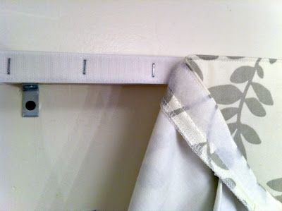 Easier Than I Thought: Box Pleat Valance mounted on board with velcro so it can be removed & washed - much better than stapling!
