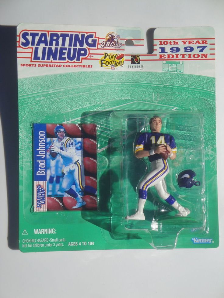 STARTING LINEUP BRAD JOHNSON MINNESOTA VIKINGS FOOTBALL ACTION FIGURE NFL 1997 #Kenner