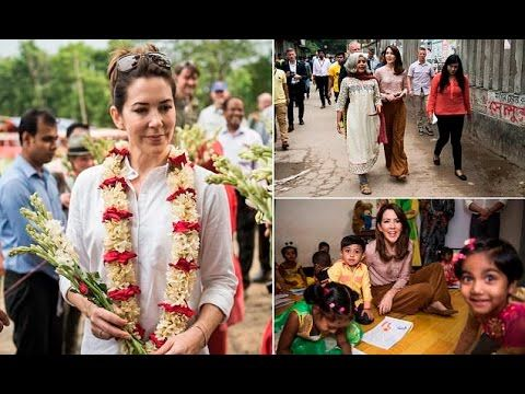 Princess Mary Change her Style by Wear Casual Shirt and Trousers on Visits Villages in Bangladesh