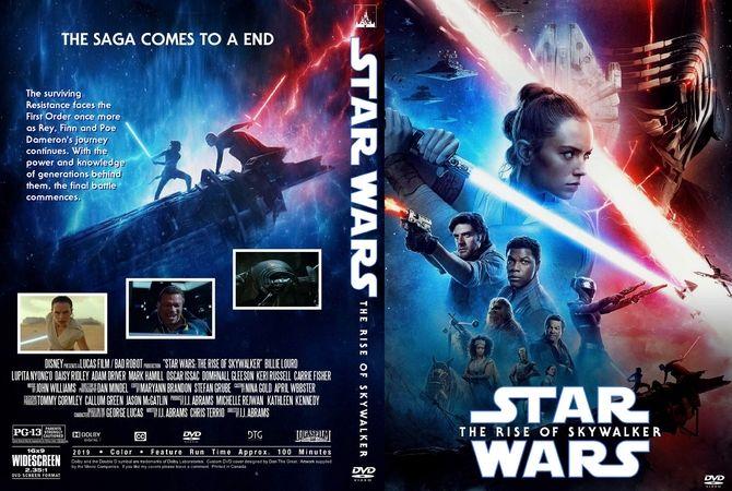 Star Wars The Rise Of Skywalker 2019 Dvd Custom Cover