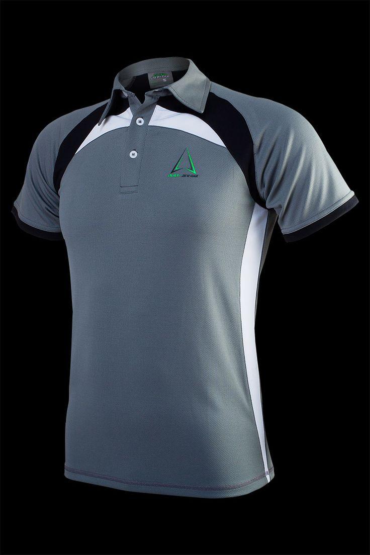 Áo thể thao Alien Armour Men's Irona II Polo T-shirt P001 - Grey