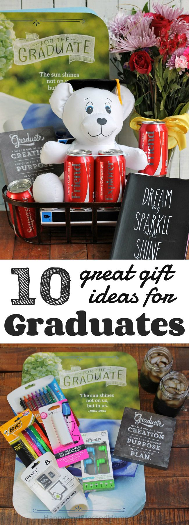 10 Great Gift Ideas for Graduates with inexpensive ideas for personalizing a graduation gift from HappyandBlessedHome.com