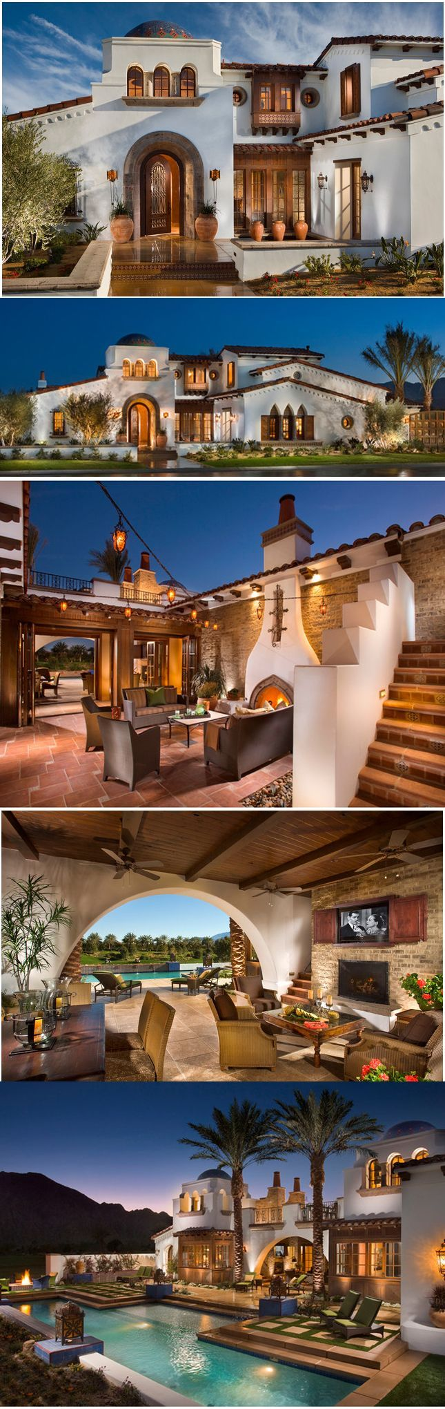 This Spanish style home is literally like a dream home for me. One of my favorite architectures for a house. Love the outdoor covered area perfect for entertainment