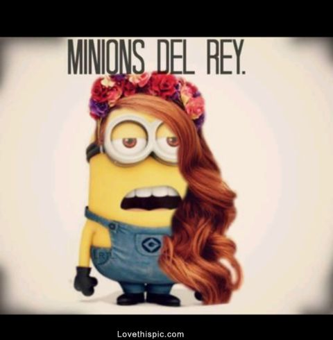 Minions Del Rey funny cartoon movie character lana del rey minion despicable me