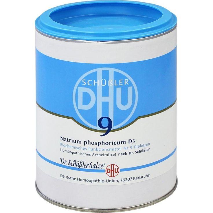 BIOCHEMIE DHU Schüssler Salz 9 Natrium phosphoricum D3 Tabletten:   Packungsinhalt: 1000 St Tabletten PZN: 00274542 Hersteller:…