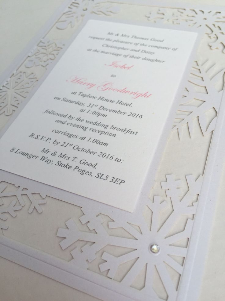 12 best Snowflake Laser Cut Wedding Invitations images on ...