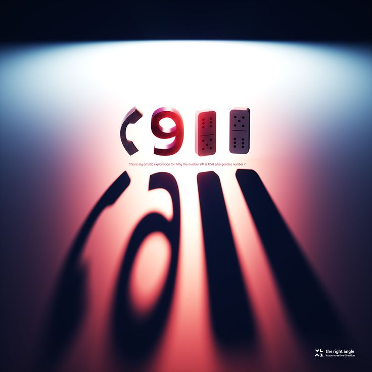This is my artistic explanation for 911:    When back lit the characters for Phone Receiver Icons and the number 911 create the word CALL ! There are other scientific explanation why it is 911, but here is how I see it.