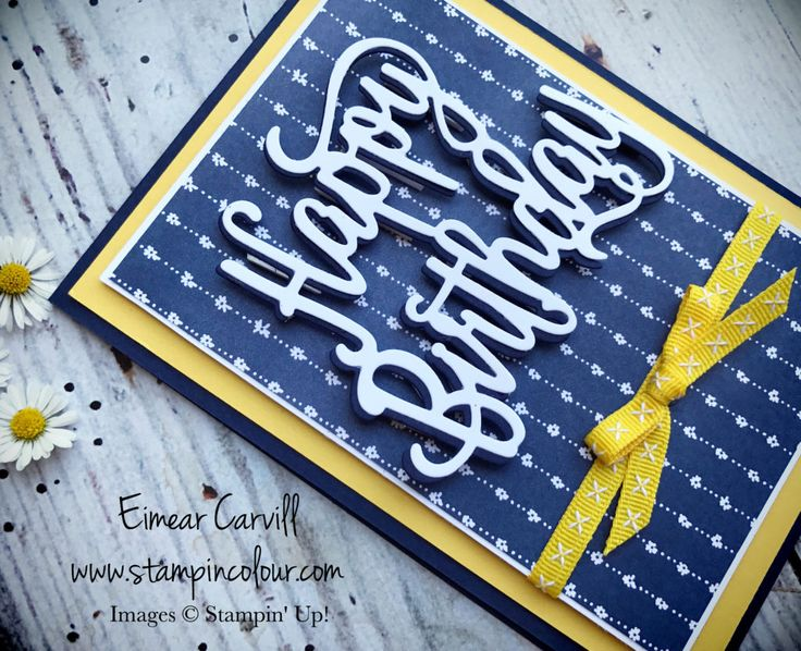 Eimear Carvill www.stampincolour.com Stampin' Creative Blog Hop - Sneak peek using Happy Birthday Gorgeous bundle and Delightful Daisy DSP #stampincolour #stampinupuk #happybirthdaygorgeous