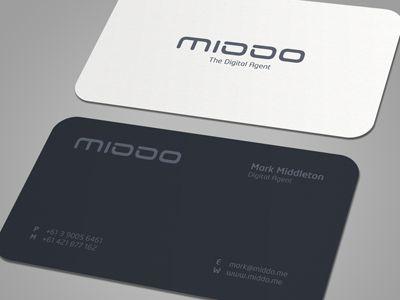 Dribbble - MIDDO Business Card by Muhammad Ali Effendy - via http://bit.ly/epinner