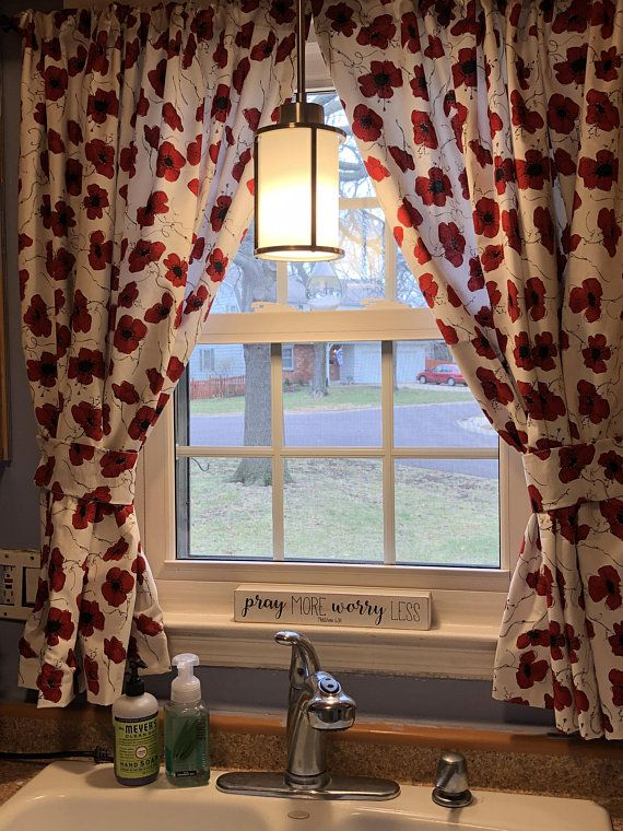 Poppies Kitchen Curtains Bathroom Curtains Or Bedroom Curtains