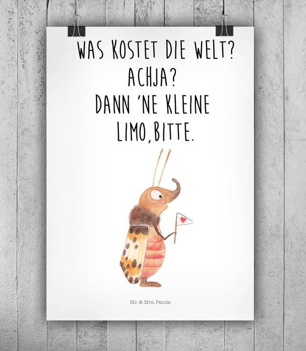Witziges Poster für kleine und große Träumer, Wanddeko, Wandgestaltung / cute art print with quote, wall decoration made by small-world via DaWanda.com